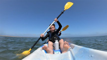 Child on kayak small