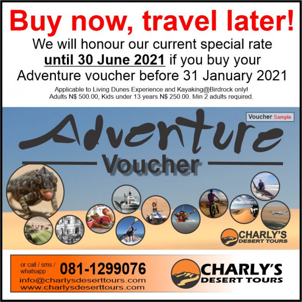 Buy now travel later until January 2021